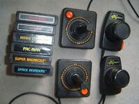 Atari 2600 w/ 4 controllers, AC and AV cables, 6 games