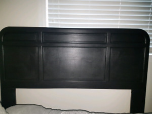 Solid Wood Bed Frame Black Queen