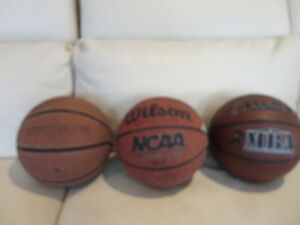 3 Vintage Basketball's For Sale -$27.00 each or B/O for all 3