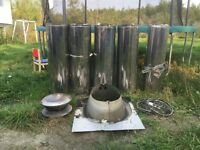 Stainless steel chimney.