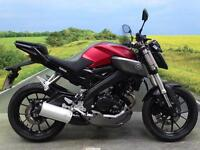 Yamaha MT125 ABS 2015 *SUPER LOW MILEAGE SAVE YOURSELF ££££'S**