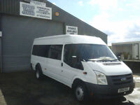 Ford TRANSIT 115 T430 17S RWD 17 seater mini bus only 61k miles **NO VAT**