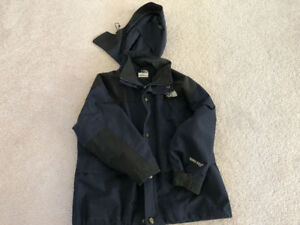 Navy north face gortex jacket medium, lululemon roots adidas