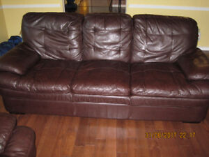 SOFA THREE SEATER  LEATHER LOOKS MUST SELL WEEKEND