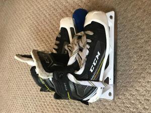 Goalie Skates, Pads, Chest protector