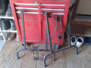 two metal table legs Kawartha Lakes Peterborough Area image 1