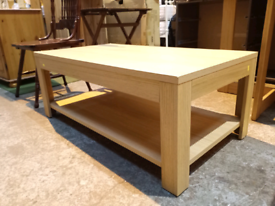Ex Display Large Wooden Coffee Table with 1 Shelf (was £150)