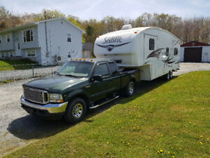 Truck and travel trailer