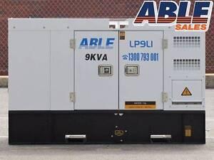 Diesel Generator 9 kVA 240V 1 Phase - BRAND NEW - WARRANTY