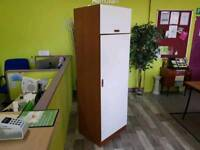 Single Wardrobe With Top Cupboard - Can Deliver For £19