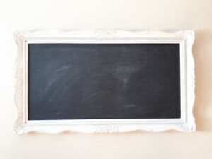 Large refinished Vintage chalkboard