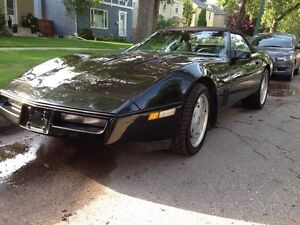 REDUCED Black Beauty Corvette Convertible