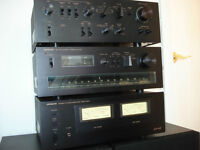 HITACHI Power Amp, Pre-Amp and Tuner Mint Work fine.