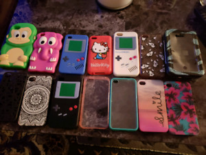 MIXED PHONE CASES 5C,4S, IPOD 4 ,POD TOUCH