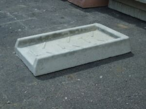 Concrete Downspout Splash Guard