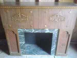 Antique fire place bar record player