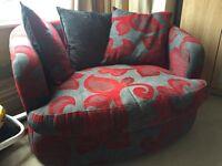 Corner swivel sofa
