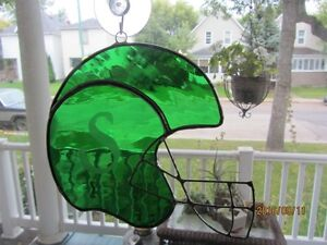 Stained Glass Suncatchers Football Helmuts Moose Jaw Regina Area image 2