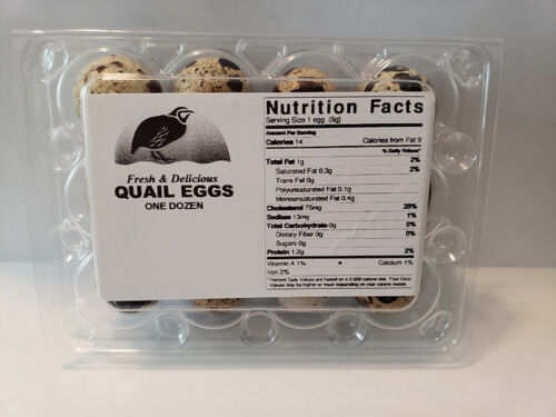 250 Quail Egg Carton Labels (carton not included) - FREE n FAST SHIPPING -
