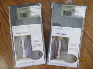 "Drapes, new in pkg, 50"" x 84"" Pole top Panel"
