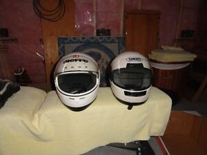 For sale 2 motorcycle helmuts c/w shields