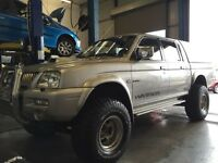 Mitsubishi l200 monster truck 4x4 full engine rebuild! 12 month mot!
