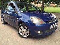 Ford Fiesta 1.6 TDCI Ghia 2007 (£30 Tax wholeyear) (07) Diesel Blue 5 door manual