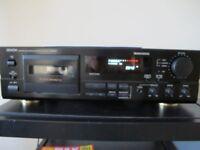 Denon Cassette Tape Deck DRM555 Auto Reverse