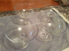 Glass Martini glasses