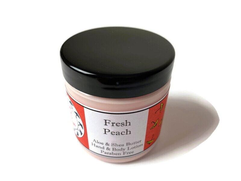 Organic Aloe & Shea Butter Lotion - Fresh Peach - Hand and B