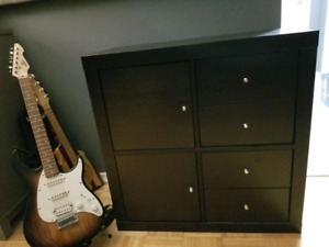 IKEA Kallax Storage Shelf with Doors and Drawer Add-Ins