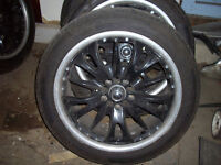 4 falken 255/45zr 20 tires and universal rims,good condition