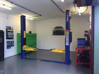 2 Car Workshop with New Ramp & Tyre Fitting Equipment