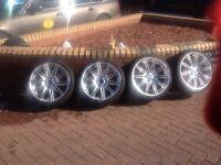 "Genuine 19"" BMW 3 Series MV4 M Sport E90 E91 E92 Staggered Alloy Wheels"