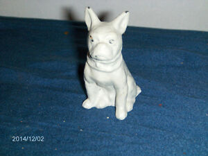 MINIATURE STATUE-BOSTON BULL TERRIER-STEEL-DOGS-ANIMALS-UNIQUE!