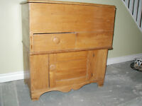 Antique Pine Commode/Dry Sink