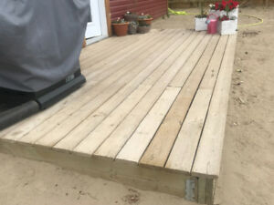 8' by 16' Deck