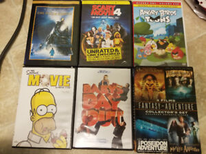 33 DVDS. Various. Kids to Adult