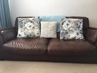 Dfs Chocolate leather settee