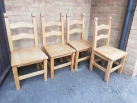 Wooden chairs - table included!