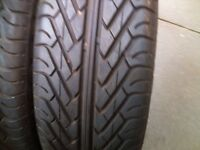 Pair of 195/50/R15 tyres, like new