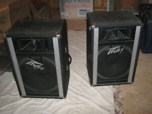 2  12 inch  PEAVEY SPEAKERS