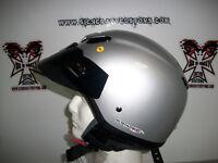 ZEUS Gloss Silver, Half Helmet