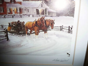 """Walter Campbell """"Country Homestead"""" Country Winter Scene Stratford Kitchener Area image 7"""