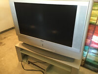Sony Grand Wega TV, DVD Player and Glass Stand