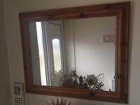 Pine Framed Mirror Excellent Condition Ready To Hand