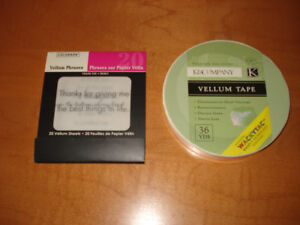 Vellum Tape and Vellum Thank You Phrases