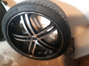New 22in rims and tires