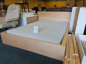 Kingsize IKEA bed and mattress £130