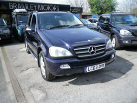 2003 Mercedes-Benz ML270 2.7TD Auto CDI * EXCELLENT EXAMPLE * 7 SEATS *